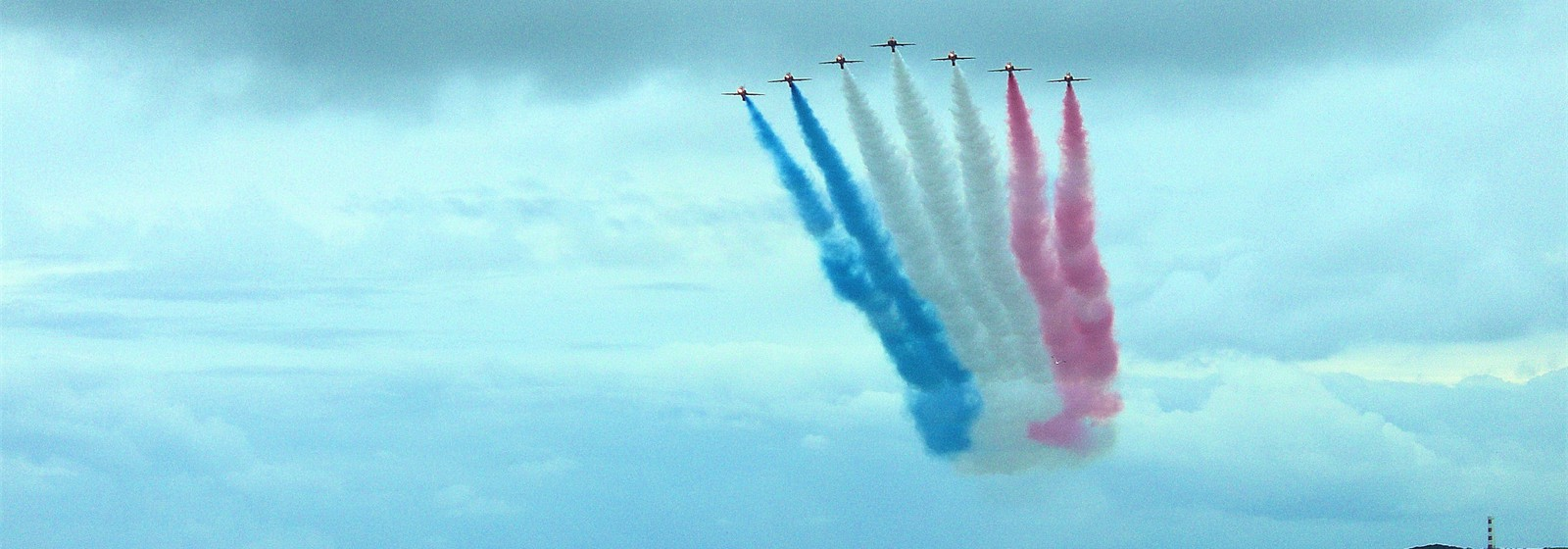 Red Arrows over Fowey